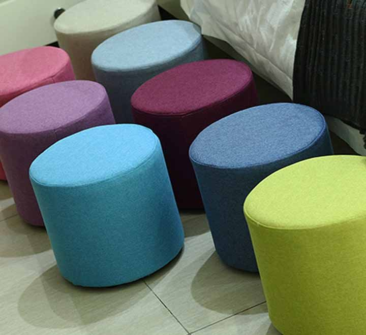 Ottoman Sofa Chair, Round Ottoman Stool, Portable Kids