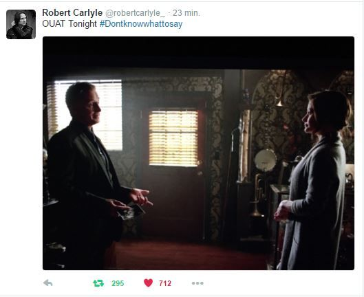 Rumple is holding the ultrasound in the picture Bobby just tweeted!