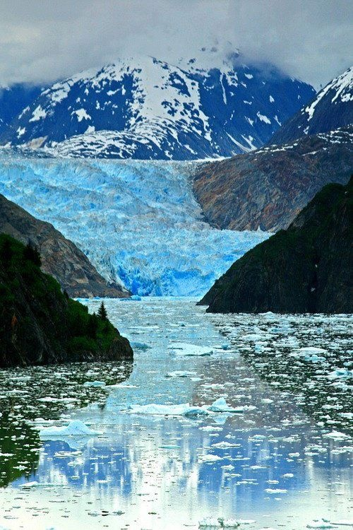 Sawyer Glacier, Inside Passage, Alaska. Chilly and magnificent.  www.GlobalAES.com