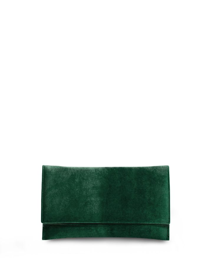 JOCKS classic line clutch for xmas nights in unique velvet... Green