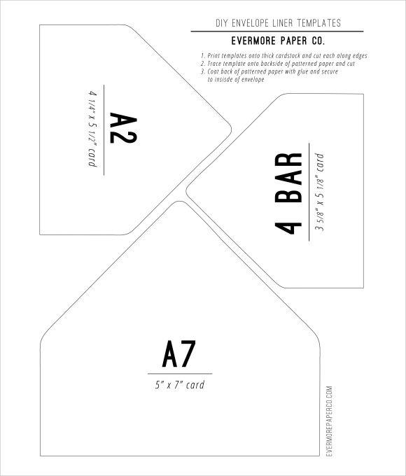 DIY Envelope Liners Template