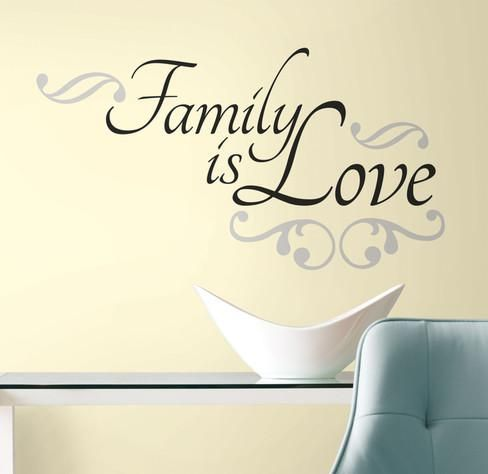 Family is Love Peel & Stick Wall Decals Decalques de parede na AllPosters.com.br