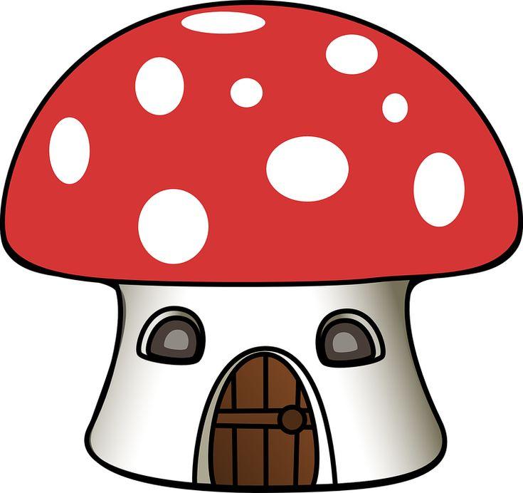 Seta, Casa, Dibujos Animados, Seta Venenosa, Forestales