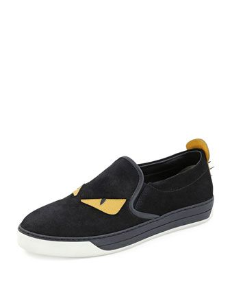 I like this one a lot!  Monster Slip-On Sneaker, Black  by Fendi at Neiman Marcus.