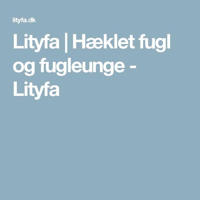 Lityfa   Hæklet fugl og fugleunge - Lityfa