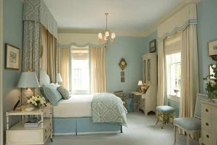 Bedroom Ideas. Fanciful Light Blue Bedroom Decoration And Accessories:  Captivating Vintage Style Light Blue