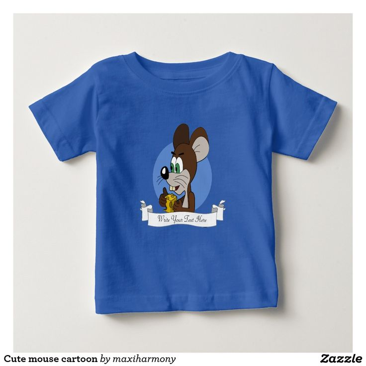 Cute mouse cartoon tee shirt
