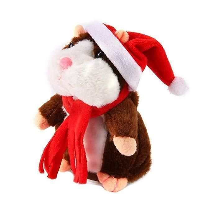 My Talking Pet Hamster Brown Christmas Limited Edition In 2020 Hamster Toys Talking Hamster Christmas Plush