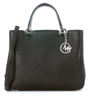MICHAEL KORS Borsa A Mano Michael Kors Anabelle In Pelle Martellata Nera. #michaelkors #bags #charm #accessory