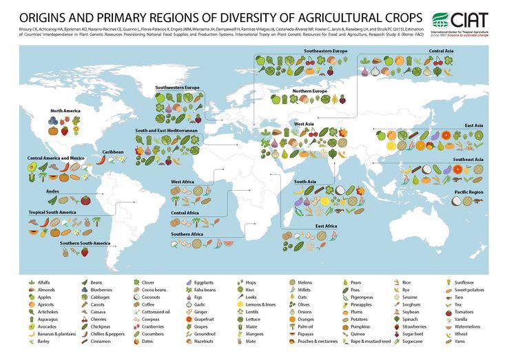 carte-origine-espece-fruit-legume-agriculture - La boite verte