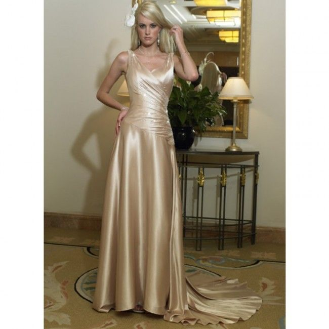 Captivating Chiffon A-line Strapless Summer Sleeveless Cascading Ruffles Empire Champagne Special Occasion Dresses