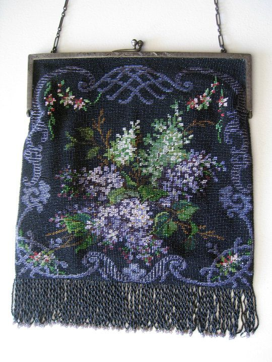c.1920's bead knit purse from the collection of Lori Blaser