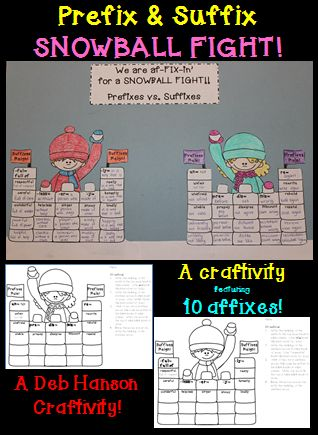 Here's a hands-on, creative way for your students to practice defining prefixes and suffixes.  The finished products make a unique bulletin board or fun school hallway display!  $
