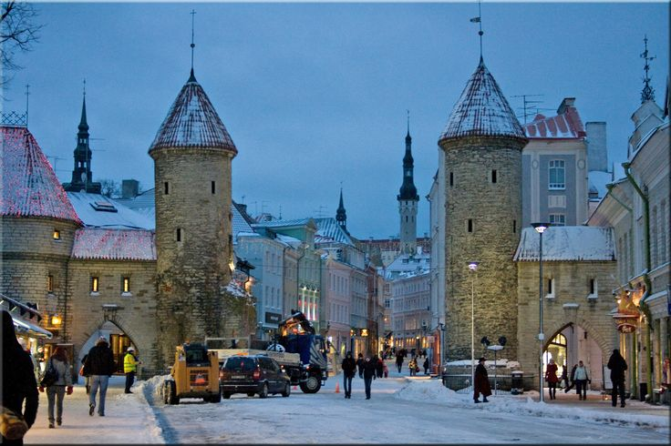 The city landscape in Tallinn, Estonia by Aili Alaiso