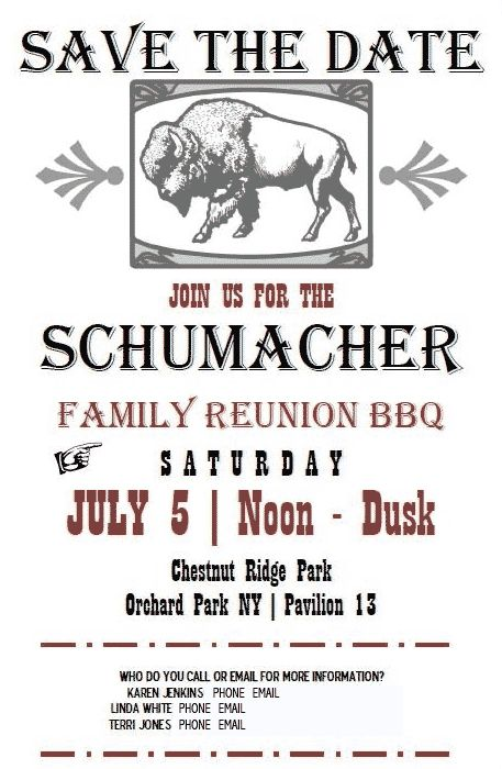 Schumacher 2014 Family Reunion Bbq Save The Date Card Western Save The Date Pinterest