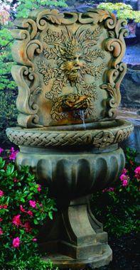 Green Man Wall Fountain (Als Garden Art) I Have This, Love The Incongruity