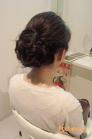 黒髪花嫁さまのナチュラルアレンジ3パターン☆リハ編 の画像|大人可愛いブライダルヘアメイク『tiamo』の結婚カタログ