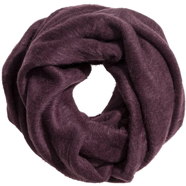 Knit Tube Scarf $17.99 ($18) ❤ liked on Polyvore featuring accessories, scarves, knit loop scarf, loop scarves, circle scarves, burgundy scarves and knit shawl