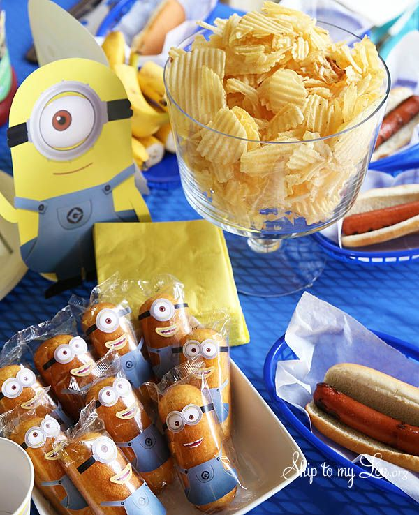 Minion party ideas- free printable decorations, food, and game ideas #ideas #minion skiptomylou.org