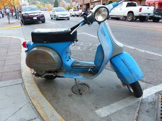 OldMotoDude: Piaggio Scooter spotted in Manitou Springs, Co.