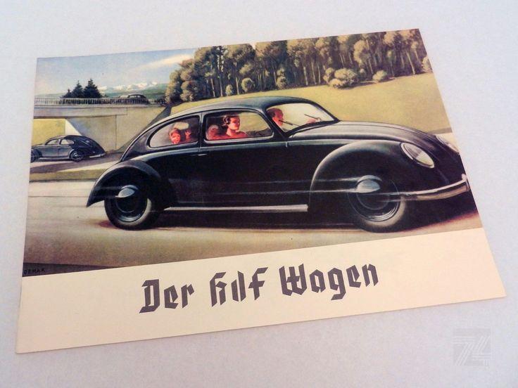 Der KDF Wagen - Prospekt REPRO REPRINT 1930er 1940er VW WW2 Katalog Broschüre   eBay - cyan74.com vintage and pop culture
