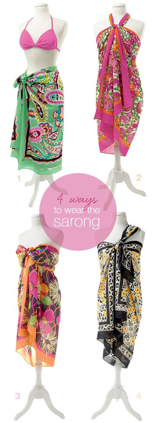 4-way tie: 4 ways to wear the Sarong #vbsummer