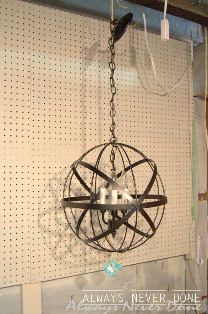 25 best ideas about orb chandelier on pinterest modern kitchen lighting modern post lights - Wire chandelier diy ...