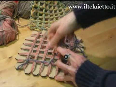 butterfly loom - chiusura degli incroci