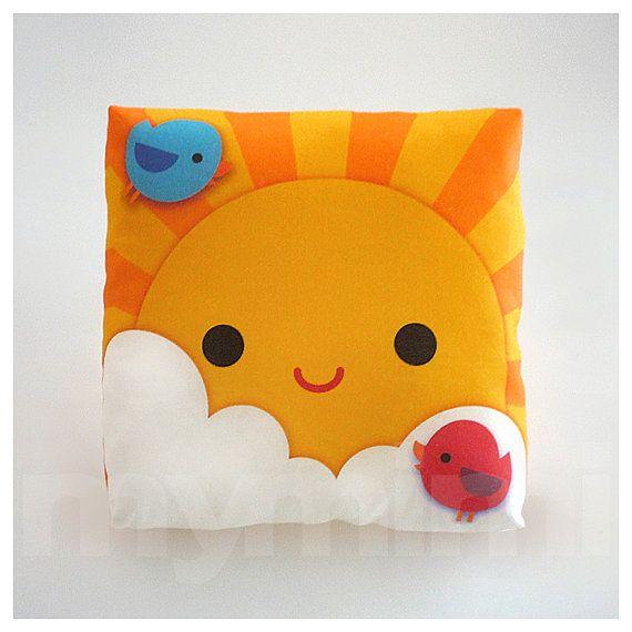 Decorative Pillows For Baby Room : Decorative Pillow, My Little Sunshine, Throw Pillow, Kids Cushion, Kawaii, Room Decor, Nursery ...