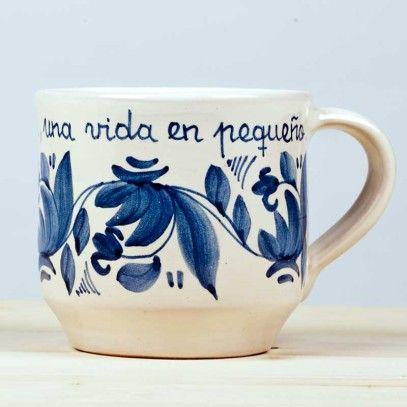 Taza azul cerámica - Luminaria Regalos Cristianos artesana hecha a mano 18,50€