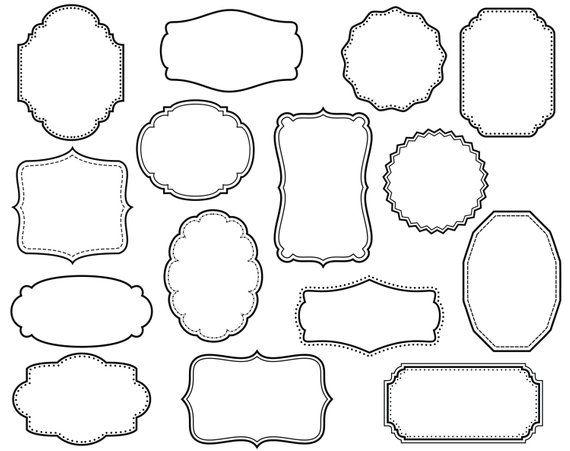 4fe7349c56f19 15 Digital Scrapbook Frames // Clipart Clip Art // Decorative Border ...