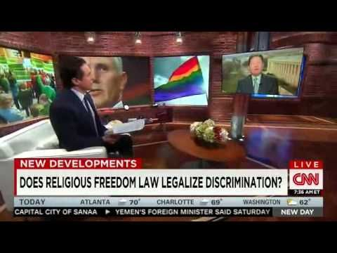CNN's Chris Cuomo Absolutely Eviscerates Family Research Council Hater Peter Sprigg Over Indiana's New Anti-Gay Law.