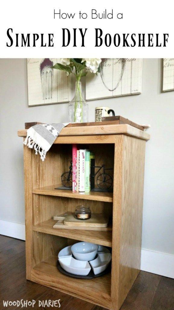 Simple Little Diy Bookshelf Free Woodworking Plans Pinterest