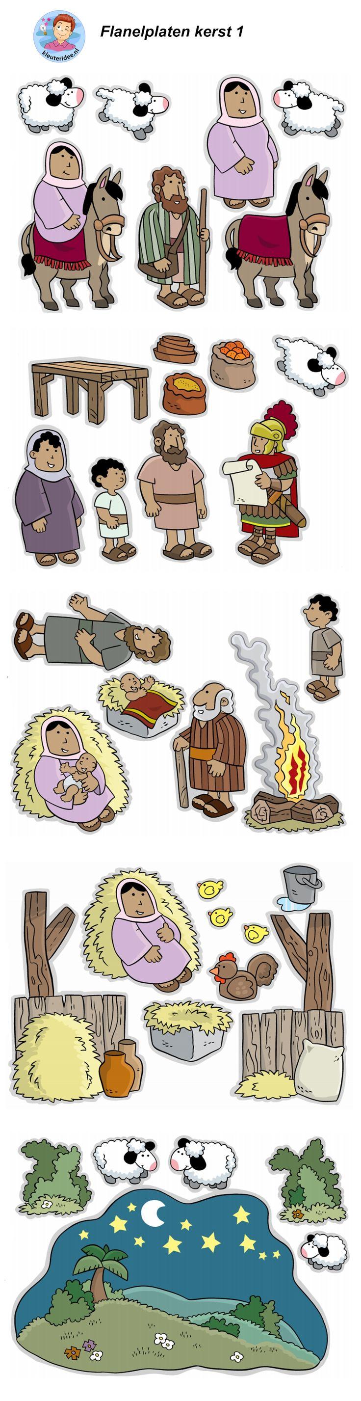 Kerst, Jezus geboren, flanelplaten voor kleuters 1, kleuteridee ,Christmas nativity, Flannel Bible Sheets, free printable.