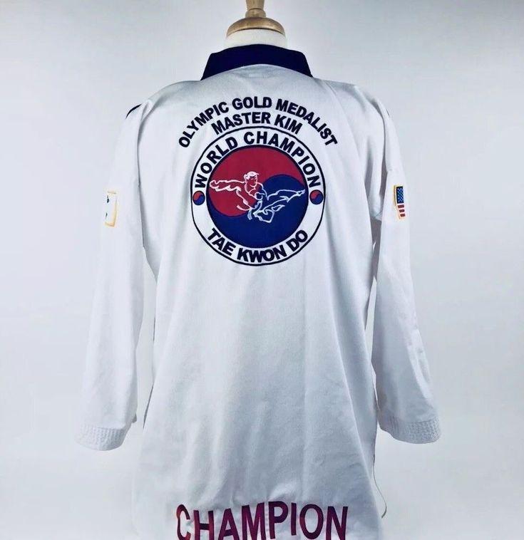Karate Taekwondo Gi World Champion Olympic Gold Medalist Master Embroidered A32 #Vision
