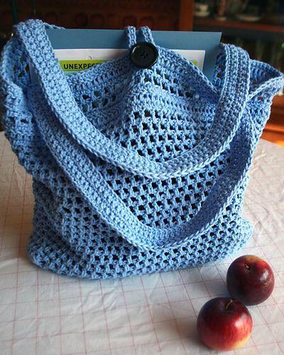 Ravelry: Rust Goes Green Market Bag pattern by Jill Chatelain