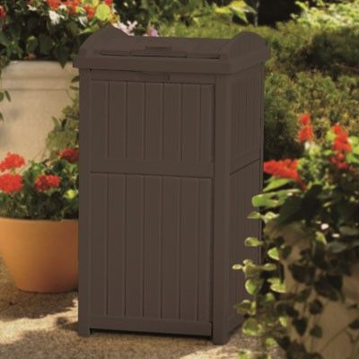 Trash Hideaway™ - Patio Accessories - Patio & Yard - Suncast® Corporation