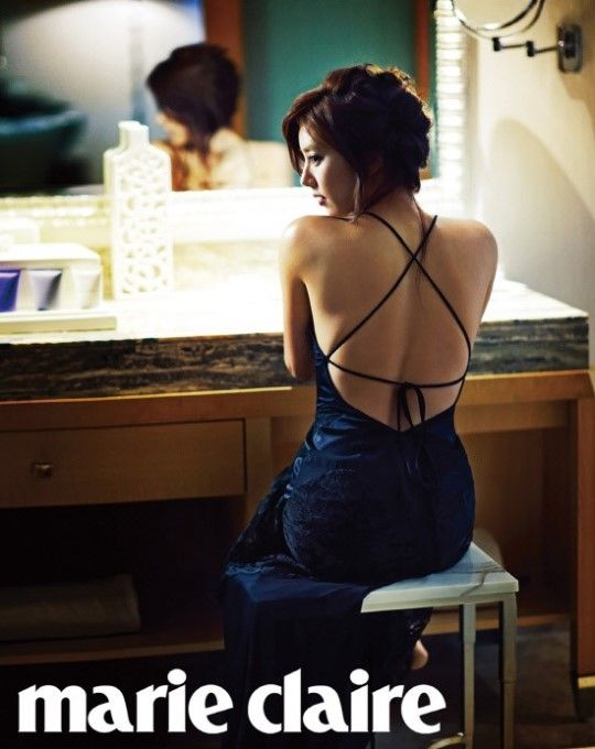 Son Dam Bi shows her S-Line for Marie Claire Korea