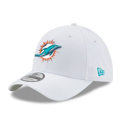 Miami Dolphins New Era Kickoff Baycik 39THIRTY Flex Hat - White