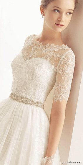 lace wedding dress, all the details on the bodice is perfect
