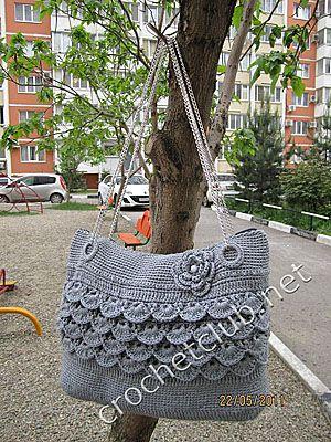 crochet bag + pattern Inspiration for computer bag