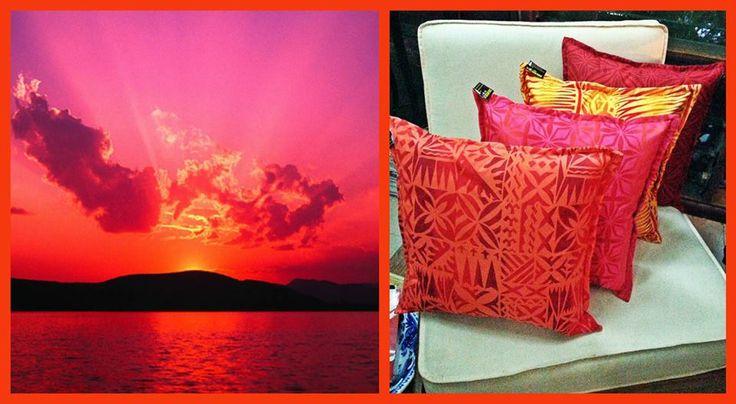 Sunset Samoa Thow Cushions.... At Plantation House Samoa.