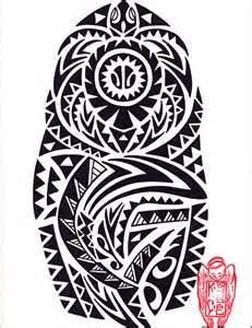 And Shark Hawaiian Tribal Inspired Bold Black Custom Tattoo Design