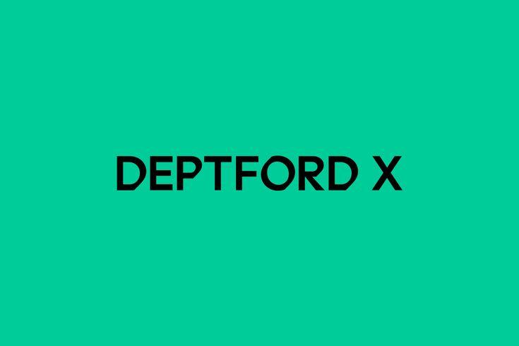 Logotype designed by IYA Studio for arts festival Deptford X