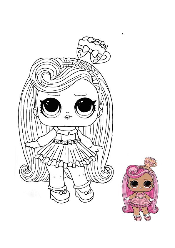 Lol Surprise Hairvibes Darling Coloring Page Unicorn Coloring Pages Star Coloring Pages Disney Coloring Pages