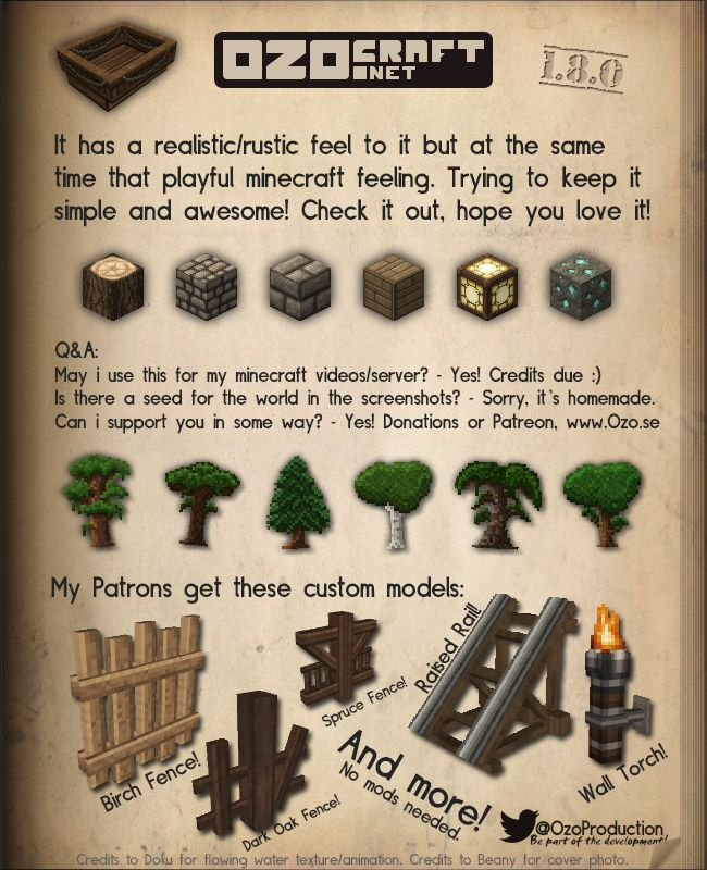 OzoCraft (1.7.4) (32x32) 635.000+ downloads - Resource Packs - Mapping and Modding - Minecraft Forum - Minecraft Forum