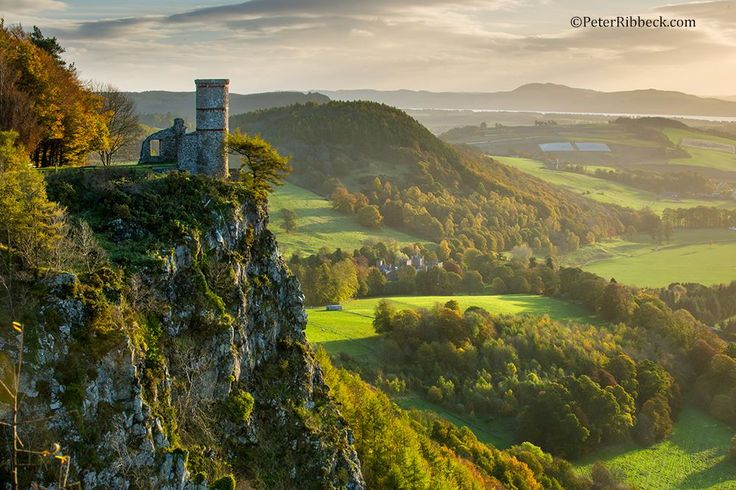 Kinnouli Tower in Perthshire on an early Autumn morning, Scotland