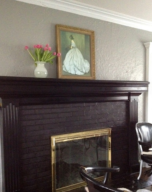 Black Painted Fireplace Surround Mantel I Really Like These Color They 39 D Match Our Couch
