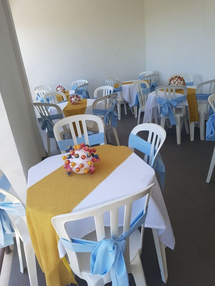 As mesas decoradas