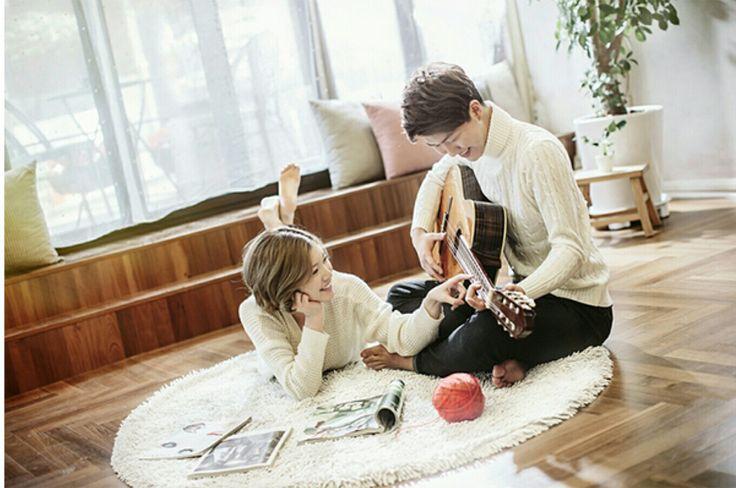 Couple shot w guitar